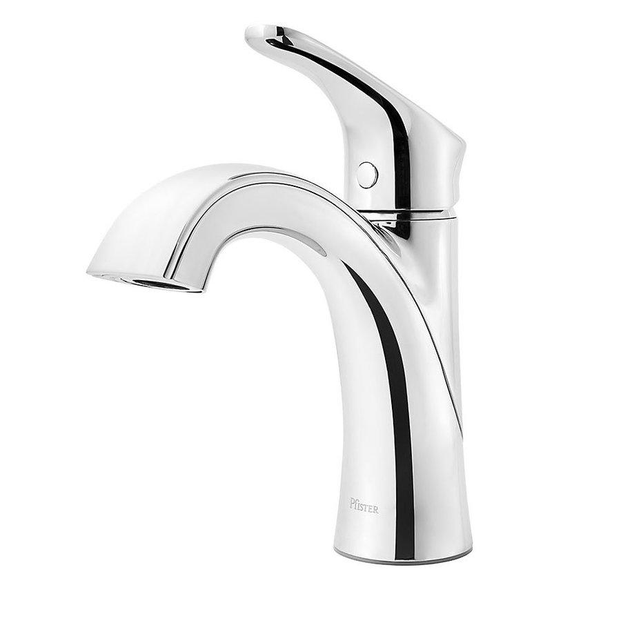 Pfister Weller Polished Chrome 1-Handle Single Hole Bathroom Sink Faucet
