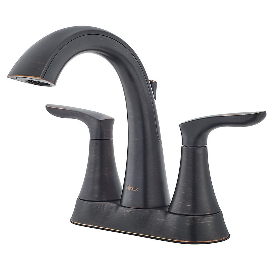 Tuscan Bathroom Faucets: Shop Pfister Weller Tuscan Bronze 2-Handle 4-in Centerset