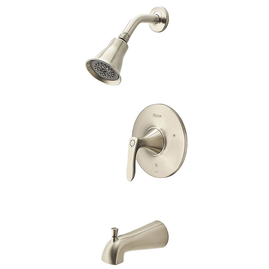 Shop Pfister Weller Brushed Nickel 1-Handle Shower Faucet at Lowes.com