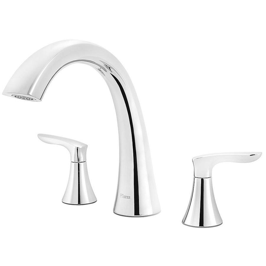 Pfister Weller Polished Chrome 2-Handle Adjustable Deck Mount Bathtub Faucet