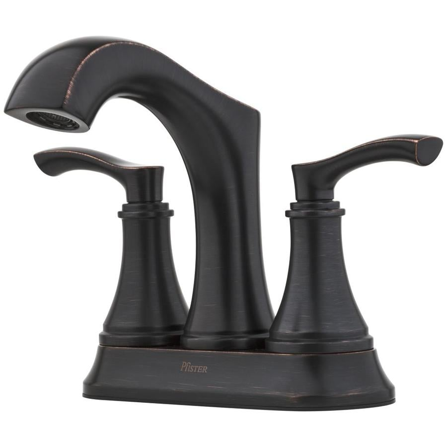 Shop Pfister Auden Tuscan Bronze 2-Handle 4-in Centerset WaterSense ...