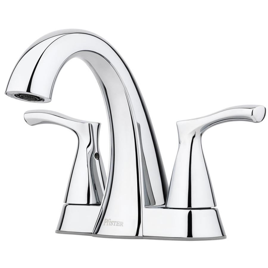 Pfister Masey Polished Chrome 2-Handle 4-in Centerset WaterSense Bathroom Faucet with Drain