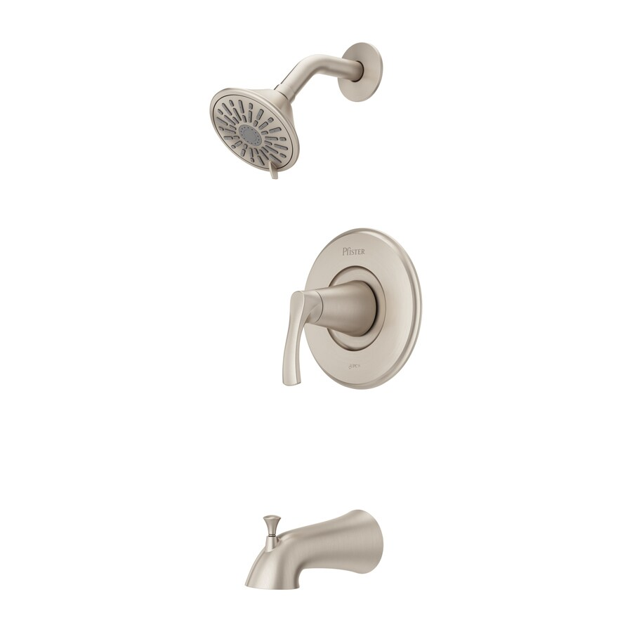 Shop Pfister Masey 1-Handle Tub and Shower Faucet in Brushed Nickel ...