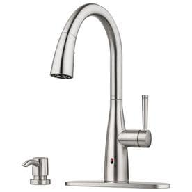 pfister raya spot defense stainless steel 1 handle deck mount pull down touchless kitchen - Pfister Kitchen Faucet