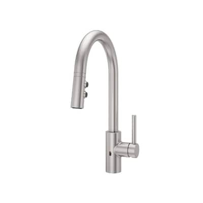 Stellen Stainless Steel 1-Handle Deck Mount High-Arc Touchless Residential  Kitchen Faucet