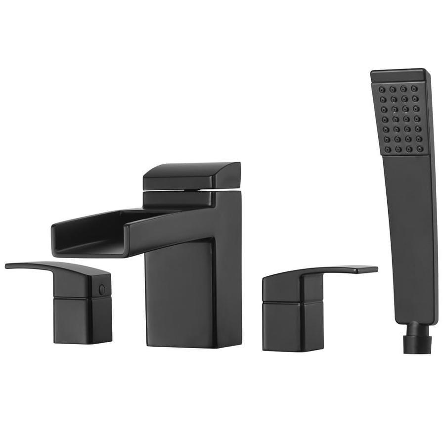 Shop Pfister Kenzo Black 2-Handle Fixed Deck mount Bathtub Faucet at ...