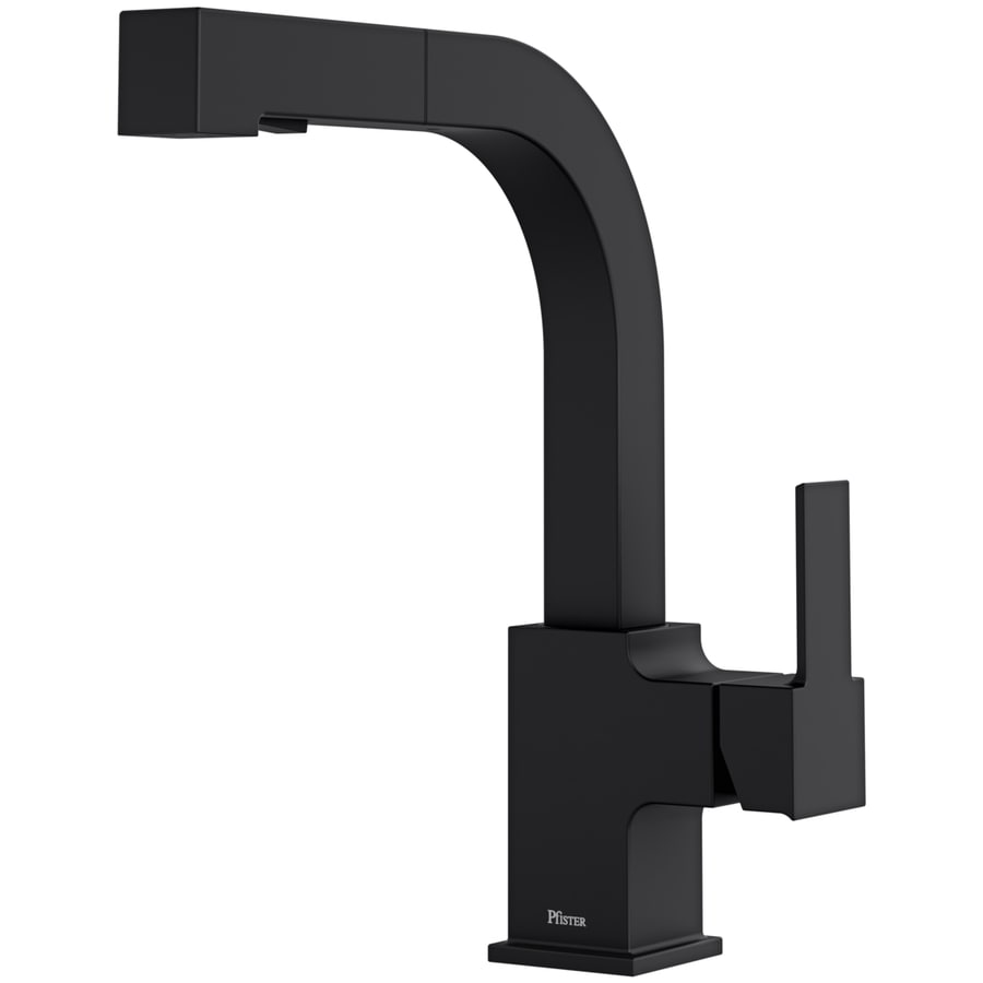 Shop Pfister Arkitek Black 1-Handle Deck Mount High-Arc Kitchen ...