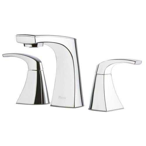 Pfister Karci Polished Chrome 2 Handle Widespread Watersense Bathroom Sink Faucet With Drain Valve Included At Lowes