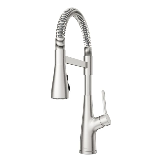 Pfister Neera Stainless Steel 1 Handle Deck Mount High Arc Handle Kitchen Faucet In The Kitchen Faucets Department At Lowes Com