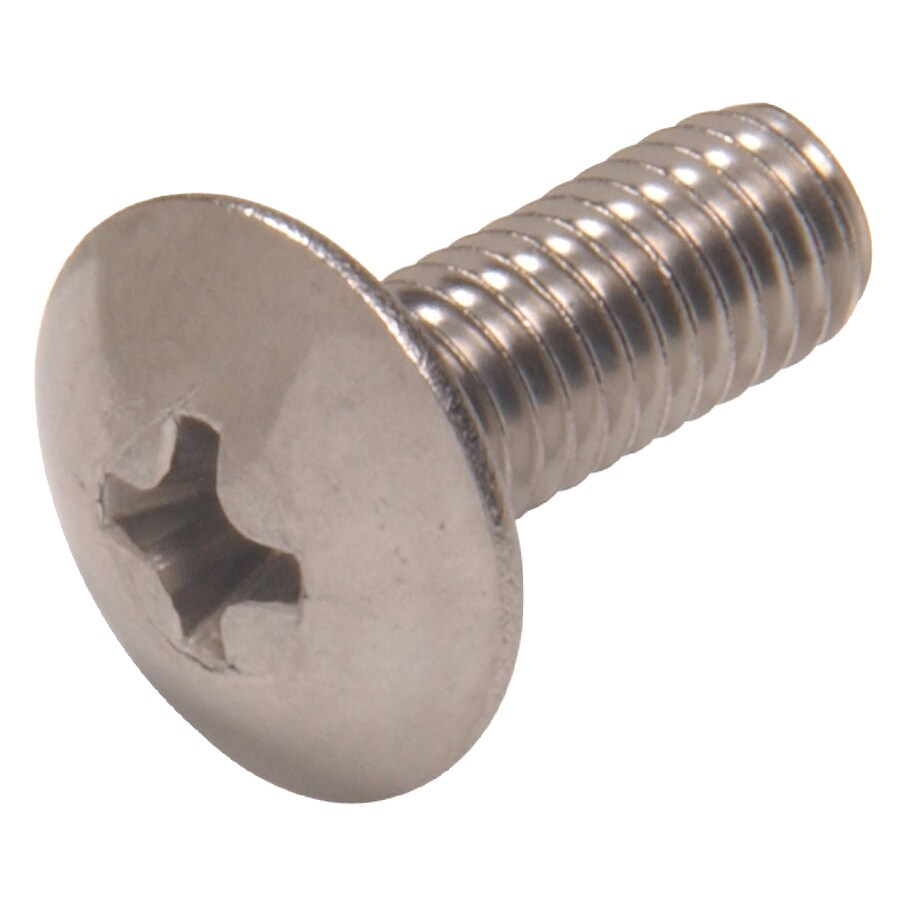 Hillman 2-Count #14 1/4-in- 20 x 2-in Truss-Head Stainless Steel Standard (SAE) Machine Screws