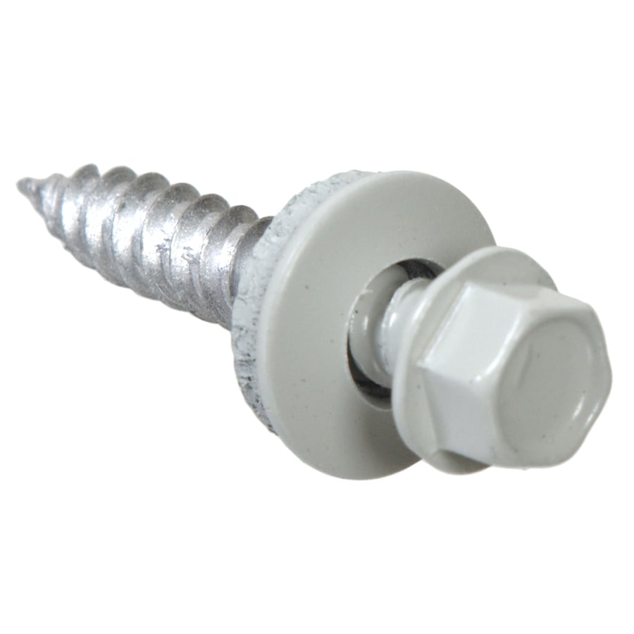 Blue Hawk 40-Count #10 x 1-in Zinc-Plated Self-Drilling Interior/Exterior Sheet Metal Screws