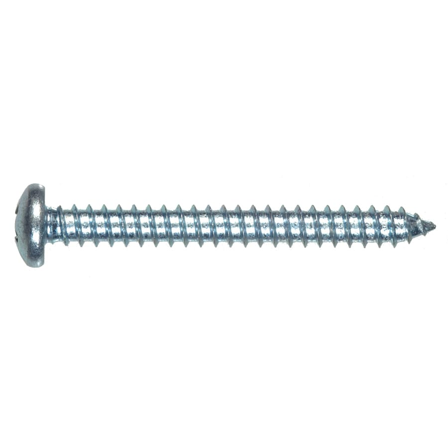 Blue Hawk 100-Count #8 x 1-in Zinc-Plated Interior/Exterior Sheet Metal Screws