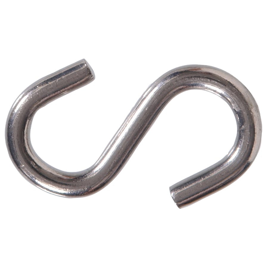 The Hillman Group 2 Pack Stainless Steel S Hooks. Shop The Hillman Group 2 Pack Stainless Steel S Hooks at Lowes com