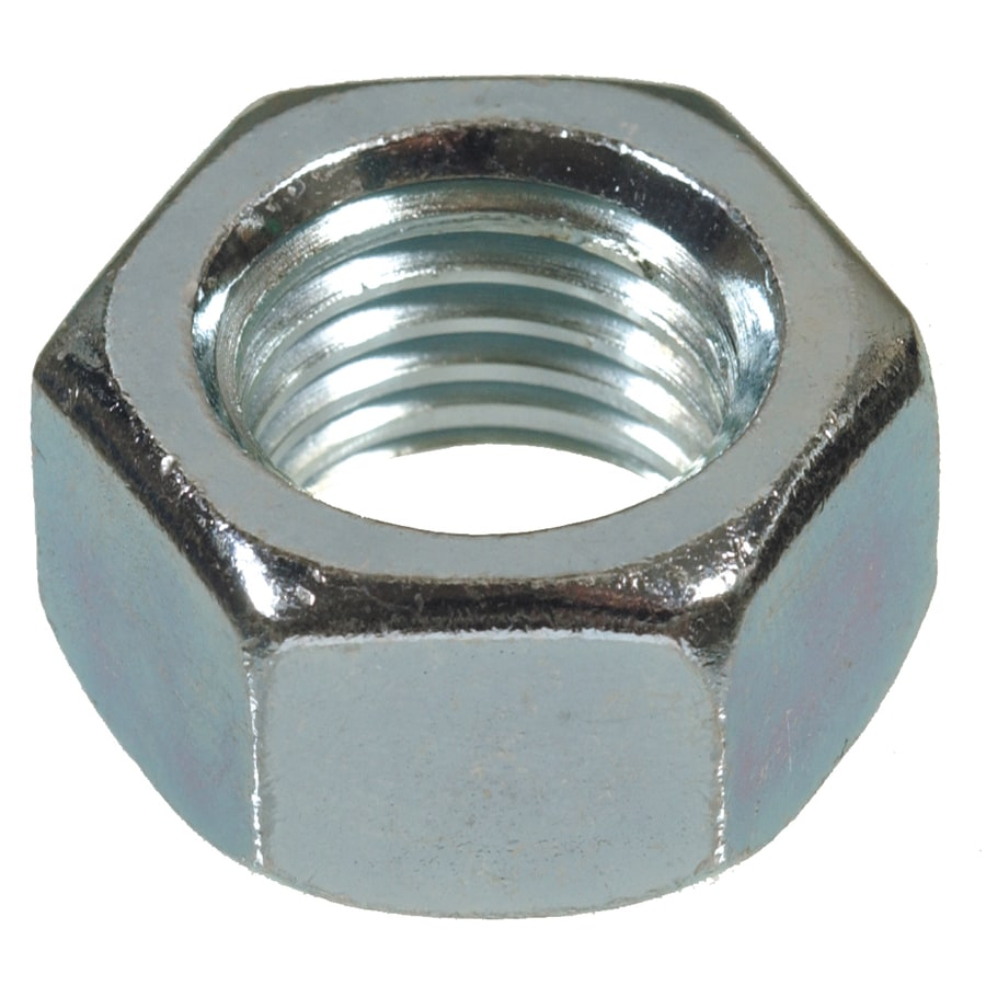 Blue Hawk 100-Count 1/4-in Zinc-Plated Standard (SAE) Hex Nuts