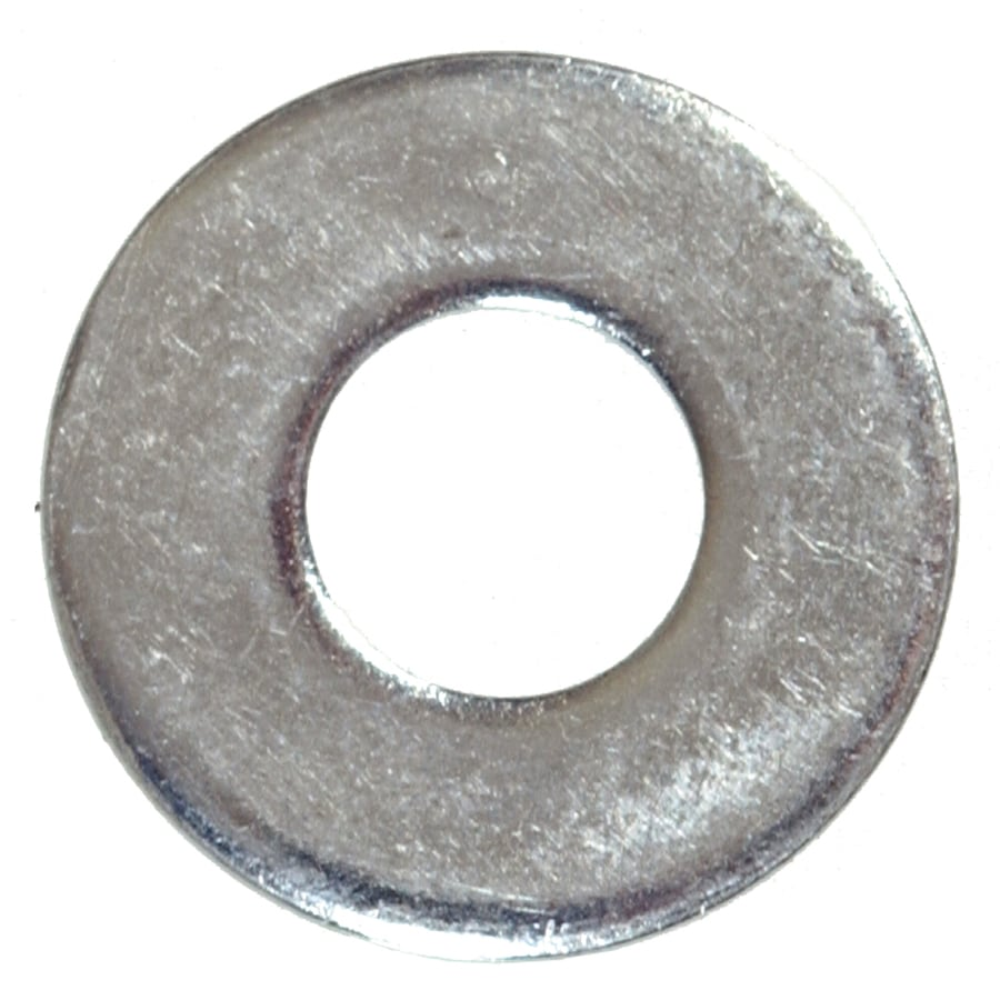 Blue Hawk 100-Count #6 x 3/8-in Zinc-Plated Standard (SAE) Flat Washers