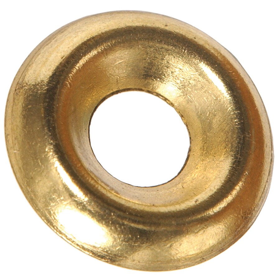 Blue Hawk 8-Count #6 Brass Standard (SAE) Finishing Washers