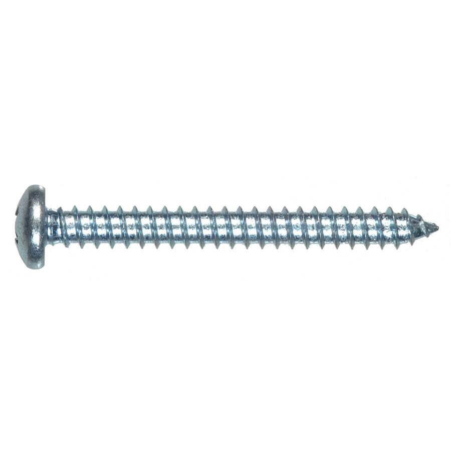 Blue Hawk 4-Count #12 x 3-in Zinc-Plated Interior/Exterior Sheet Metal Screws