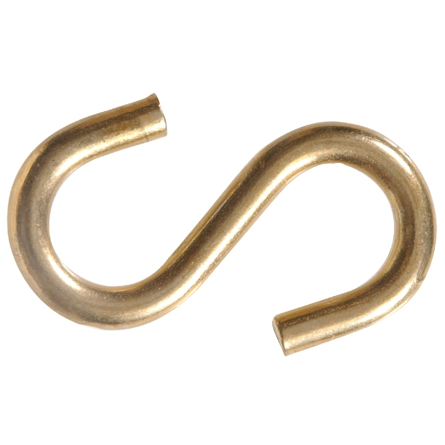 Blue Hawk 3-Pack Brass Plated S Hooks