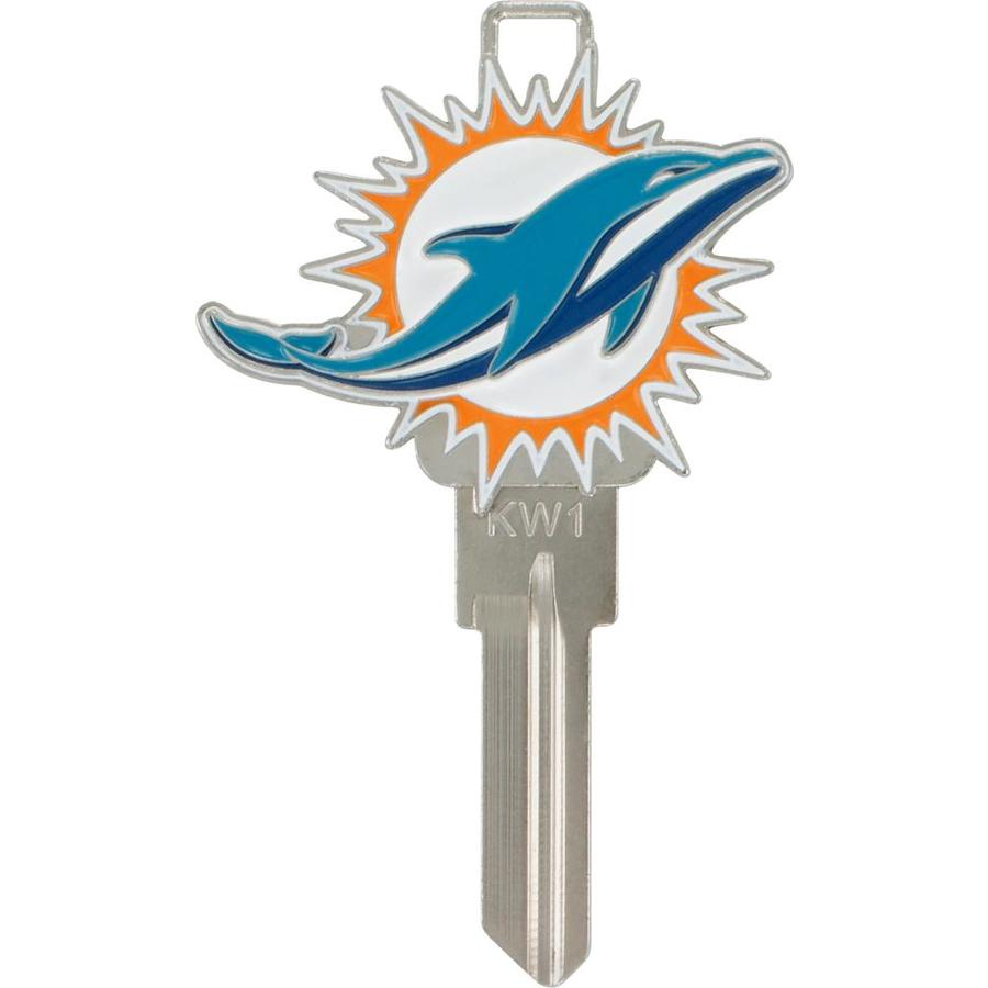Shop Hillman Miami Dolphins Brass House Entry Key Blank At