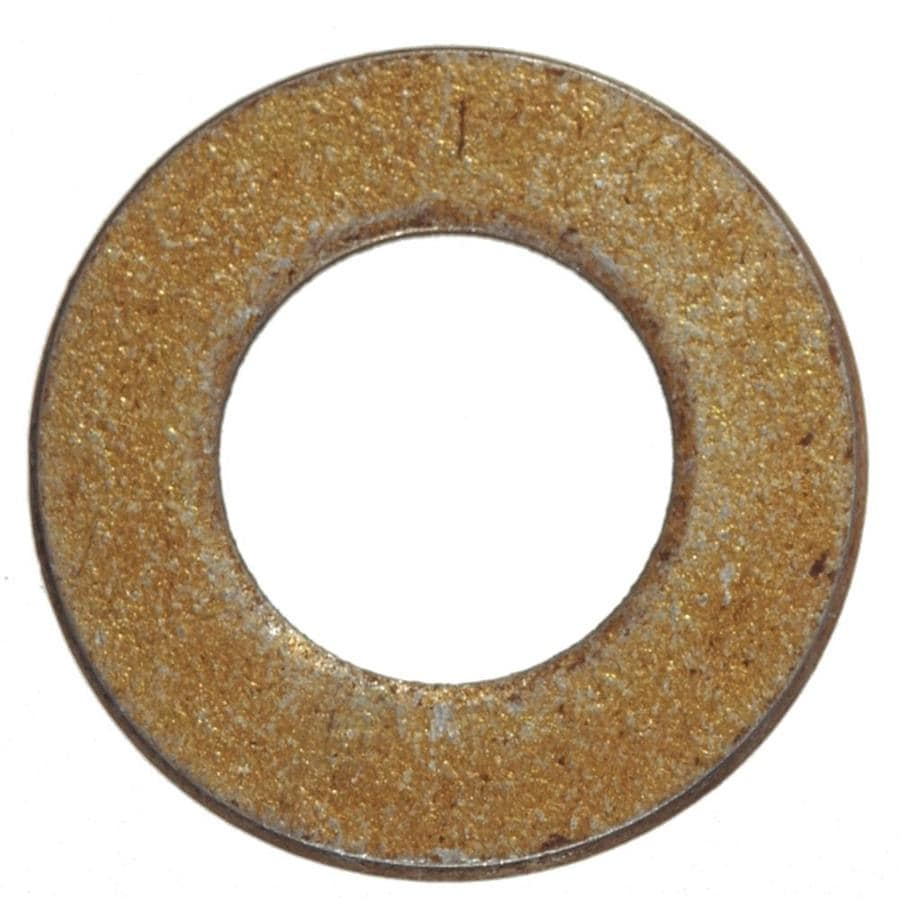 Hillman 4-Count 0.25-in x 0.727-in Yellow Zinc Standard (SAE) Flat Washers