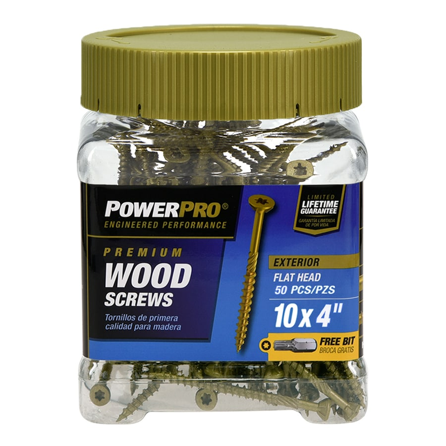 Power Pro 50 #10 x 4.0-in Flat-Head Bronze Star-Drive Deck Screw