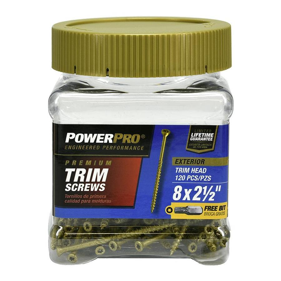 Power Pro 0.164-in x 2.5-in Bronze-Plated Trim Screws