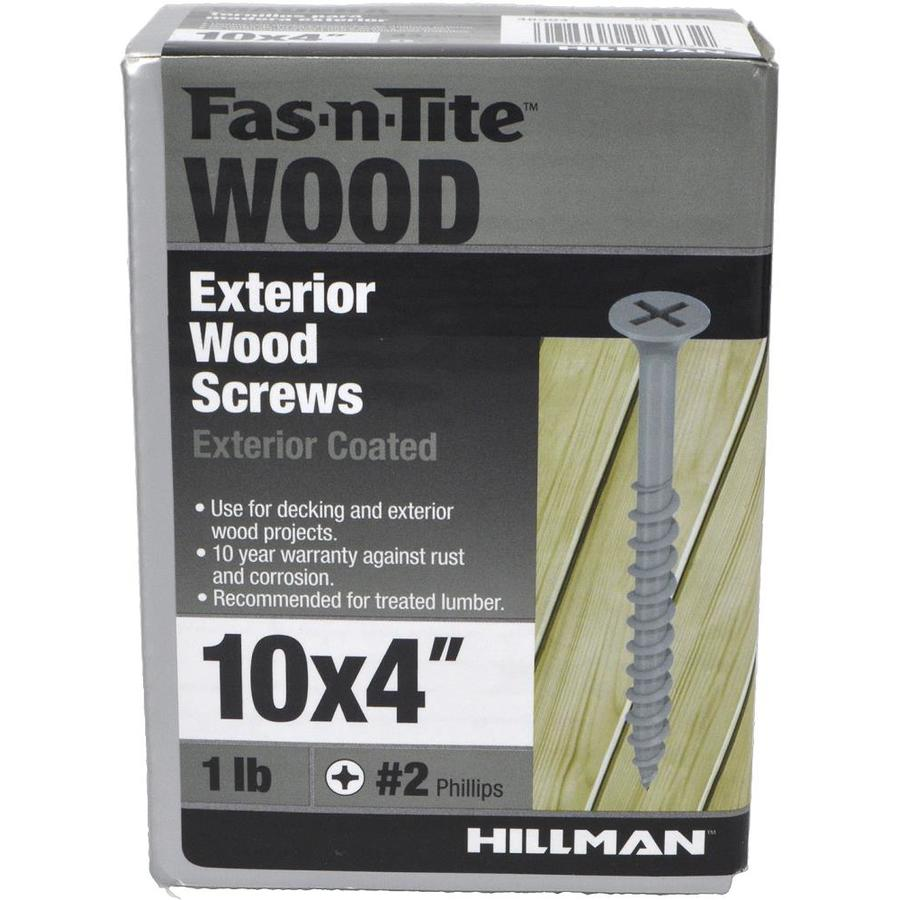 Fas-n-Rite 1-lb #10 x 4-in Bugle-Head Coated Phillips-Drive Exterior Wood Screw