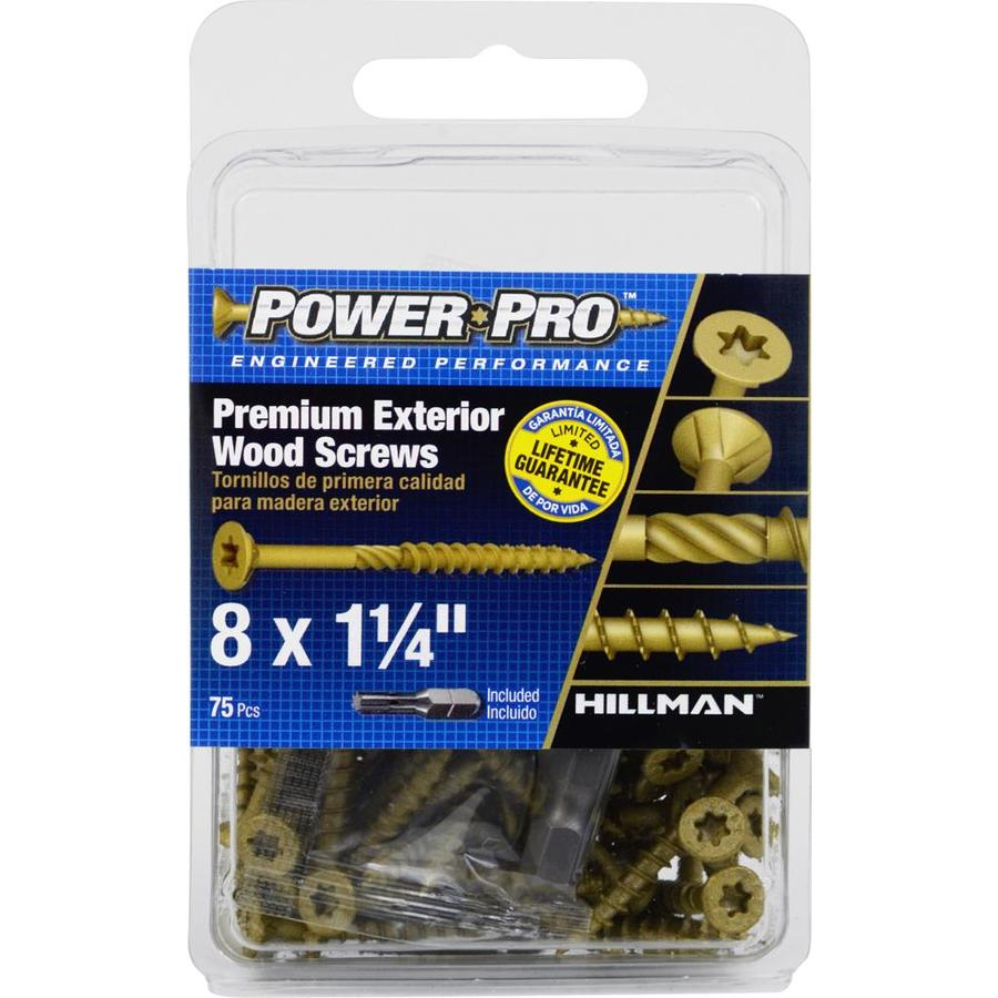 Power Pro 75-Count #8 x 1.25-in Countersinking-Head Bronze Star-Drive Deck Screws