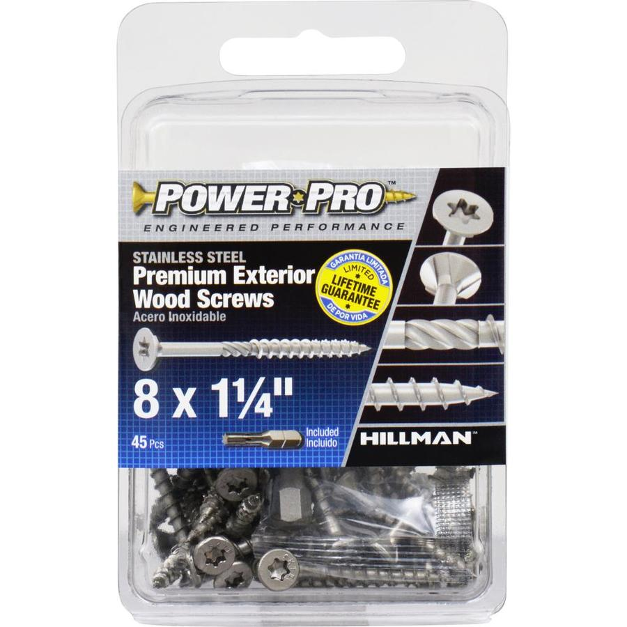 Power Pro 45-Count #8 x 1.25-in Countersinking-Head Stainless Steel Star-Drive Deck Screws