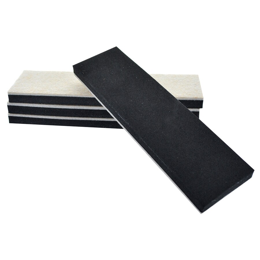 Hillman 4-Pack 2.5 x 9-in Rectangle Reusable Felt Hard Surface Sliders