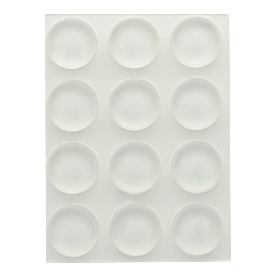 The Hillman Group 12-Pack 0.5-in Round Adhesive Backed Plastic Hard Surface Sliders