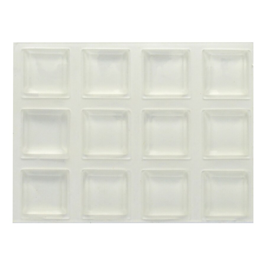 Hillman 12-Pack 0.5-in Square Adhesive Backed Plastic Hard Surface Sliders