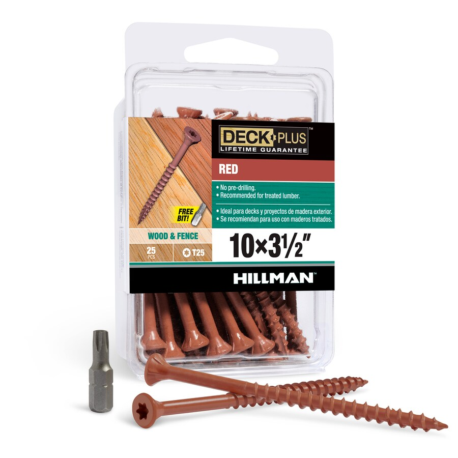 Hillman 25-Count 3.5-in Flat-Head Ceramic Star-Drive Deck Screw