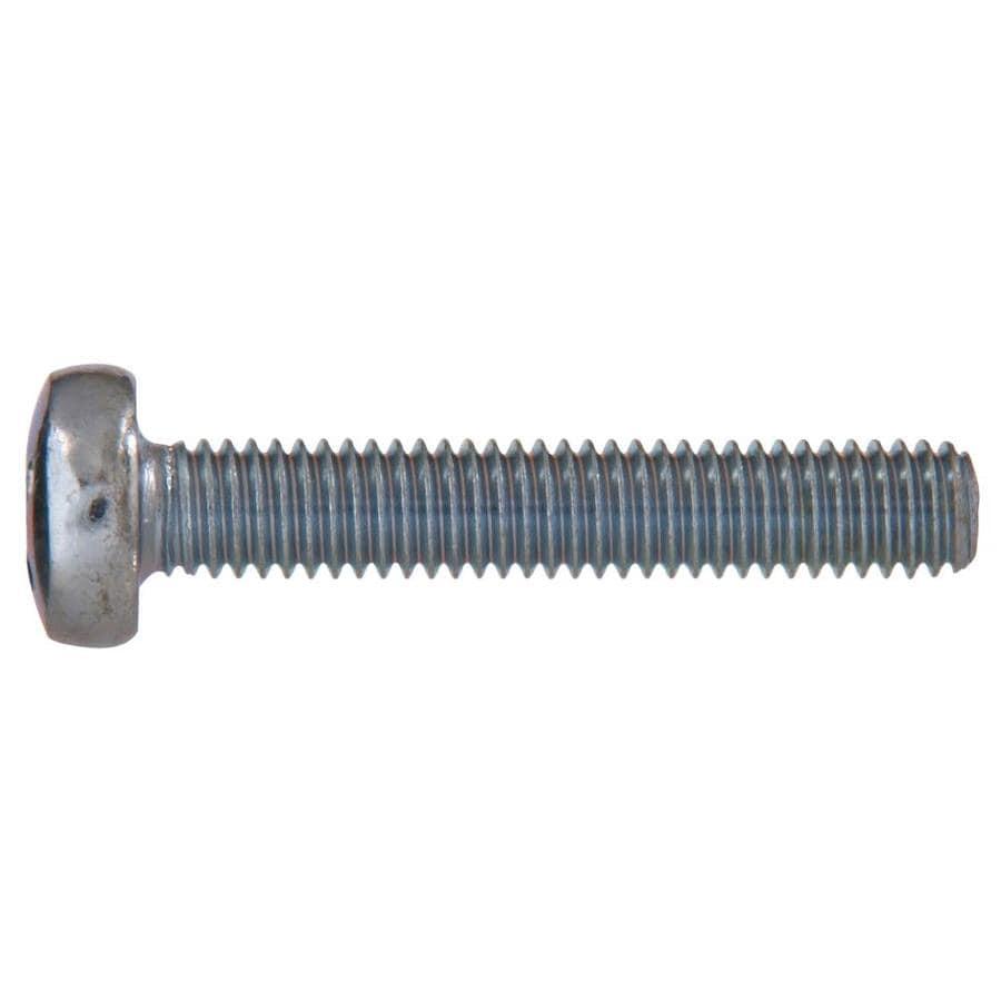 Hillman 12-Count 4mm to 0.7 x 10mm Pan-Head Zinc-Plated Metric Machine Screws