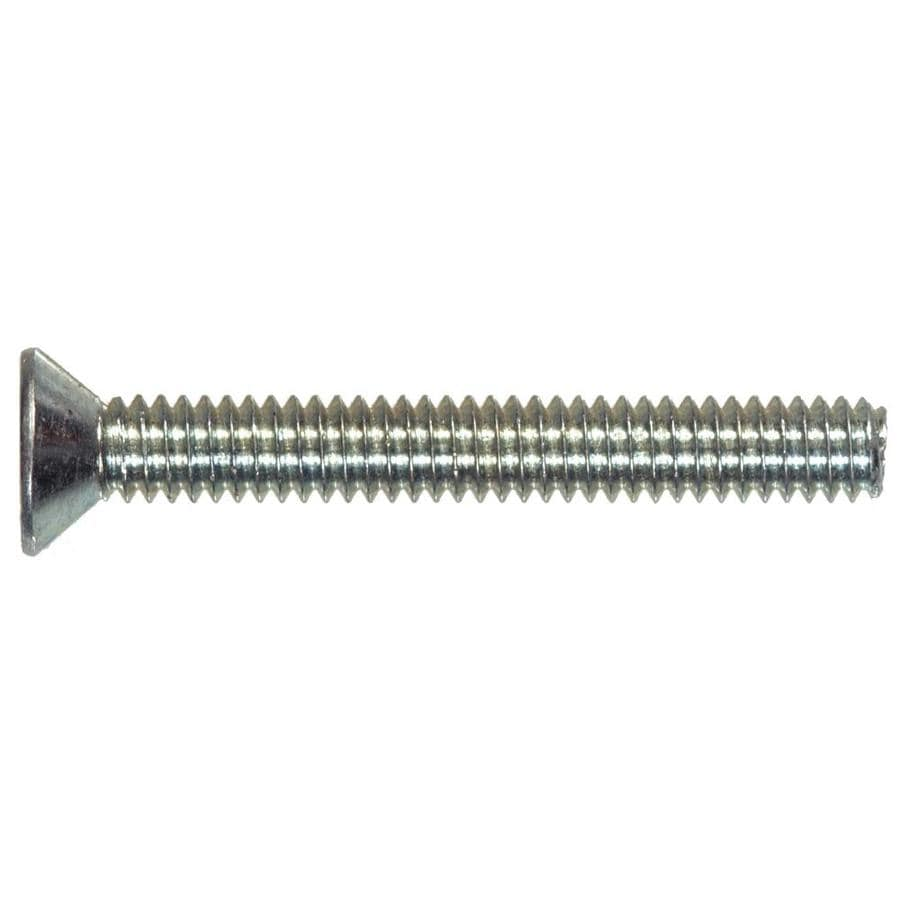 The Hillman Group 12-Count 4mm to 0.7 x 12mm Flat-Head Zinc-Plated Metric Machine Screws