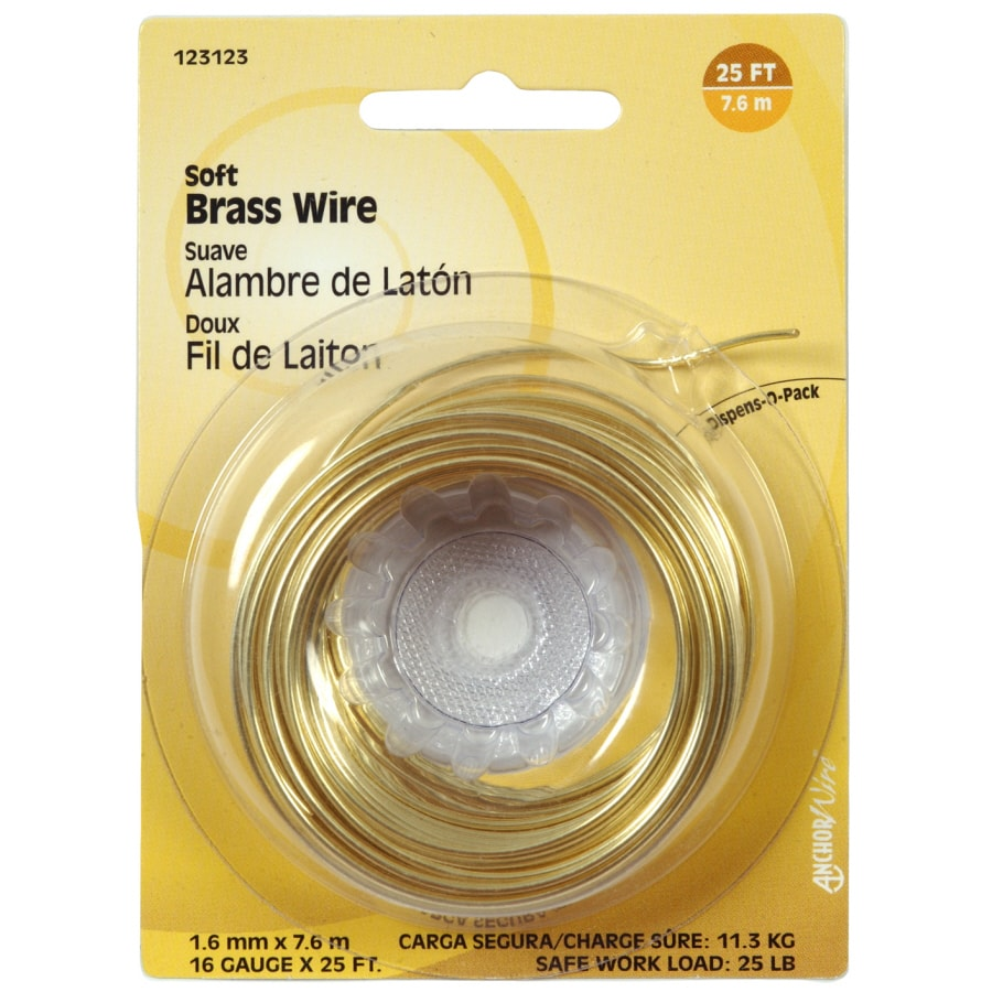The Hillman Group 16-Gauge Soft Brass Picture Hanging Wire