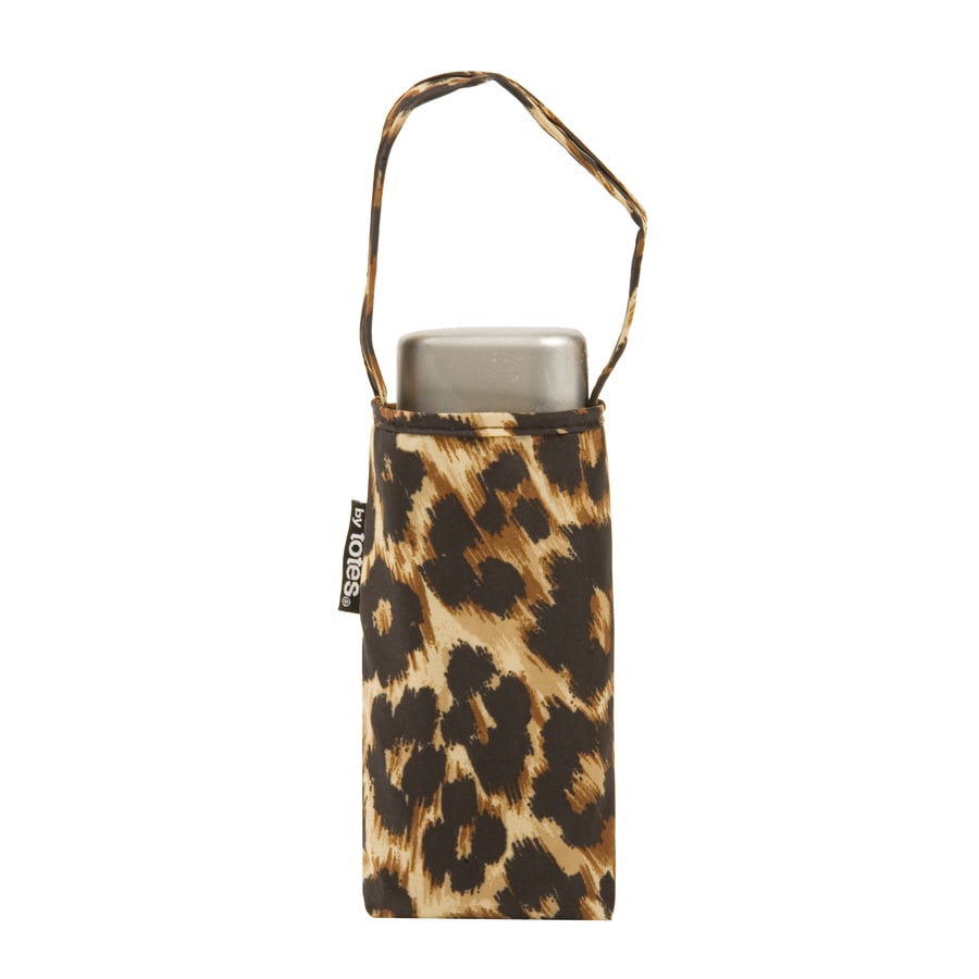 totes 6-in Leopard Manual Mini Umbrella