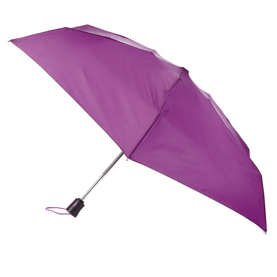 totes 7.75-in Purple Automatic Mini Umbrella
