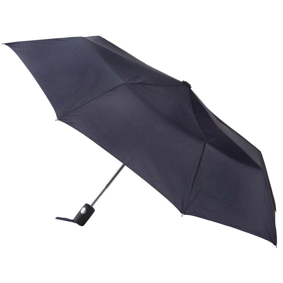 totes 11.25-in Black Automatic Compact Umbrella