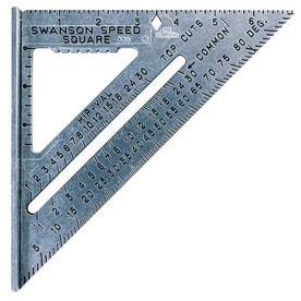 Swanson Tool Company Speed Square with Black Markings and Blue Book