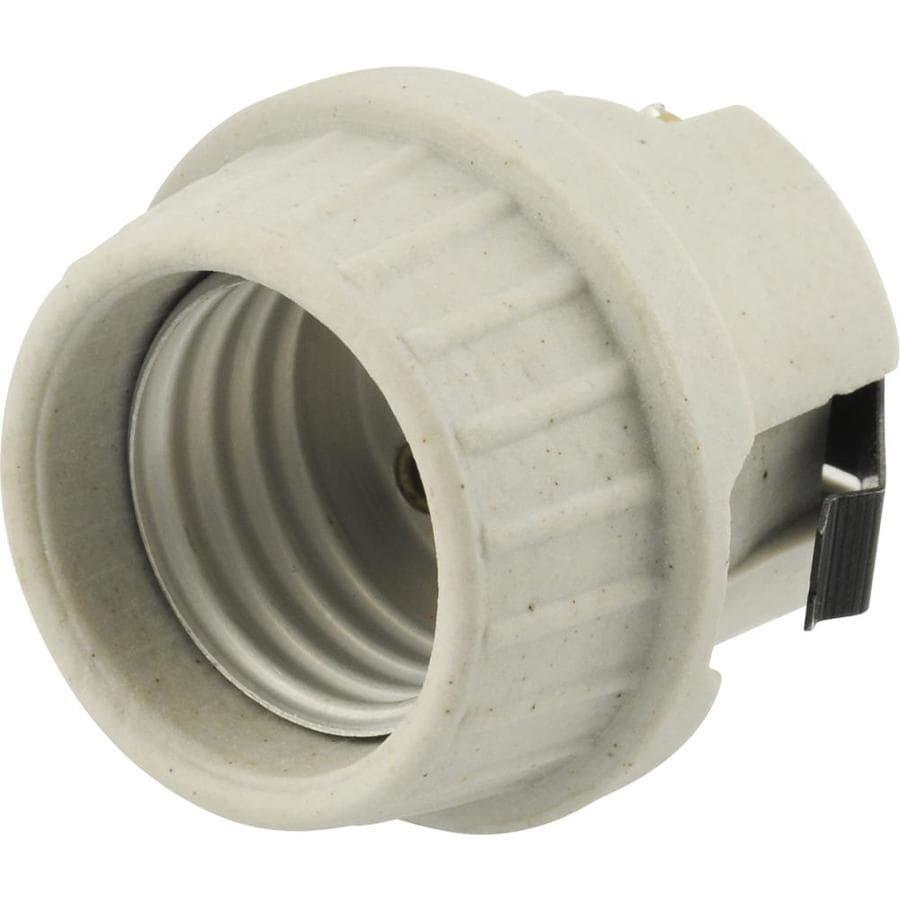 SERVALITE 75-Watt Grey Hard-Wired Ceiling Socket