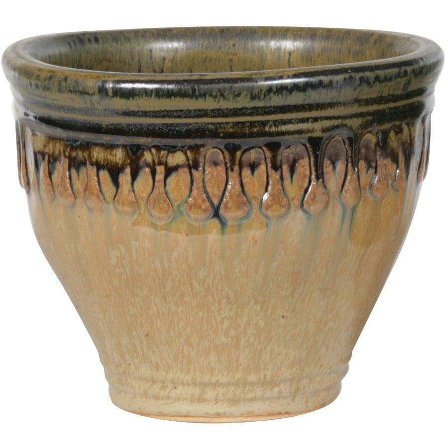 New England Pottery 14 1 2 Honey Twilight Patio Planter At Lowes Com