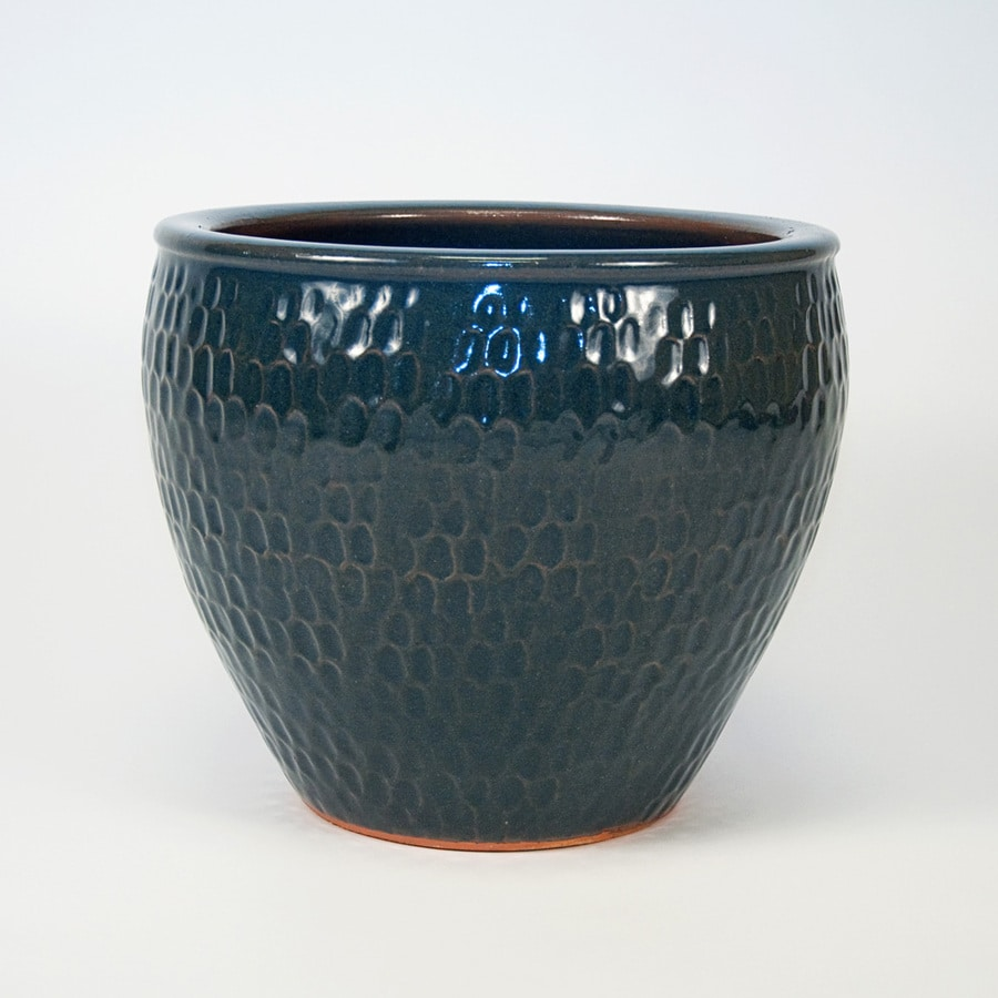 New England Pottery 12 008 In H X 14 173 In W X 14 173 In D Grey