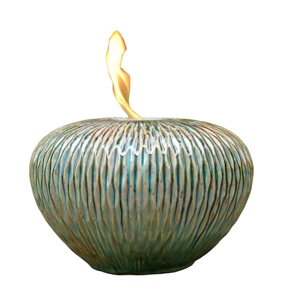 Oceanic Blue Ceramic Fire Pot At Lowes