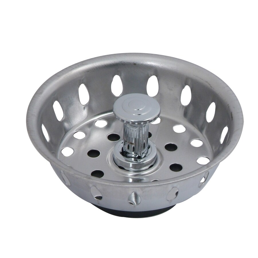 BrassCraft 3.5-in Stainless Steel Twist and Lock Kitchen Sink Strainer