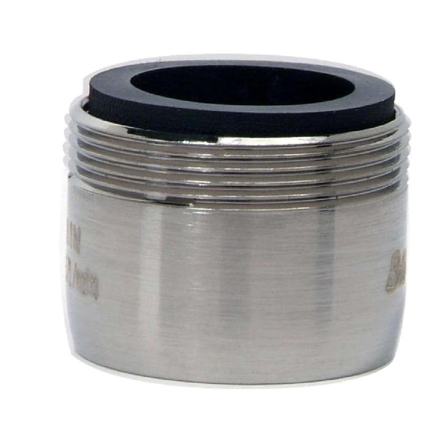 BrassCraft 15/16-in x 27-in Male or 55/64-in x 27-in Female Thread Nickel Slotless Aerator Adapter