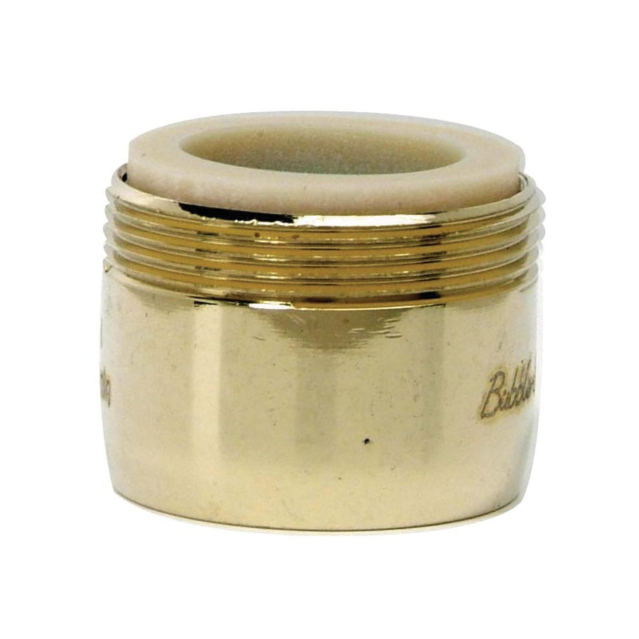 BrassCraft 15/16-in 27-Male x 55/64-in 27-Female Brass Slotless Aerator Adapter