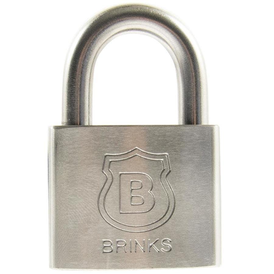 Brink's Home Security 2-in Stainless Steel Shackle Keyed Padlock