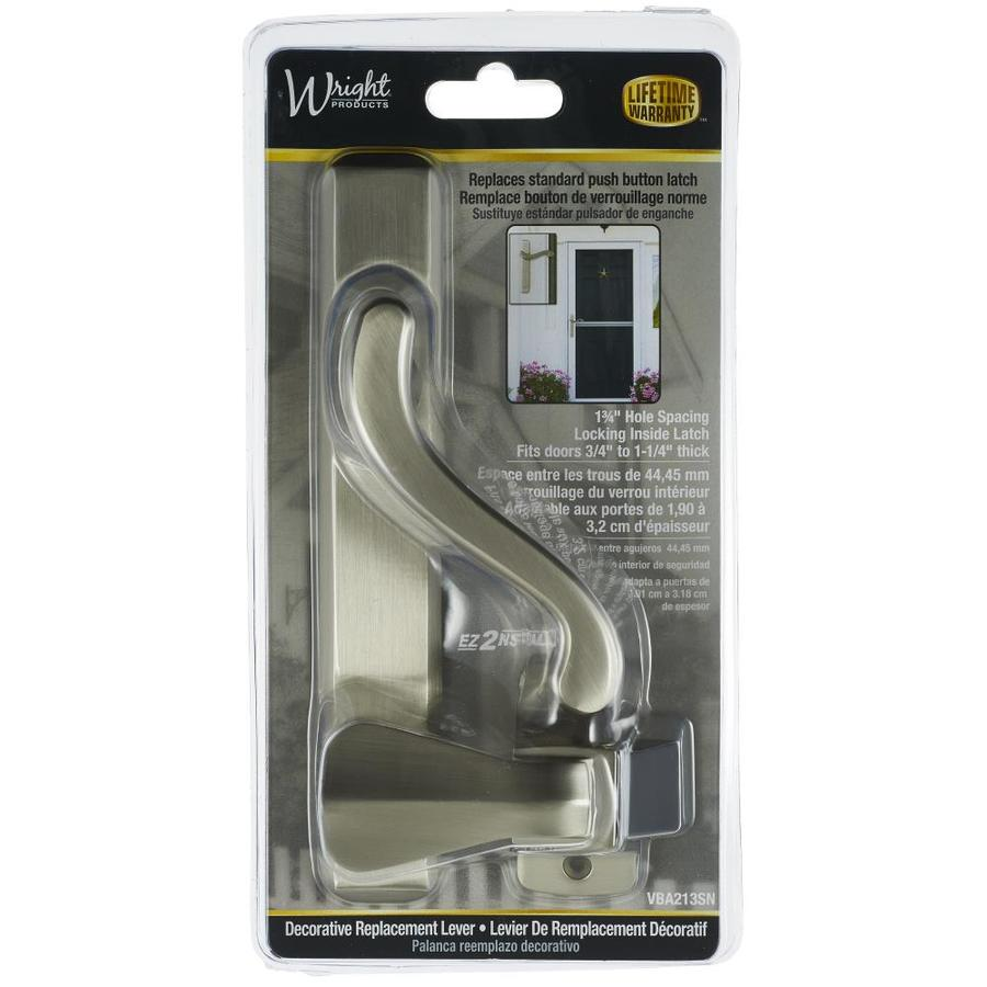 WRIGHT PRODUCTS 1.75 In Satin Nickel Screen Door And Storm Door Universal  Knob Latch