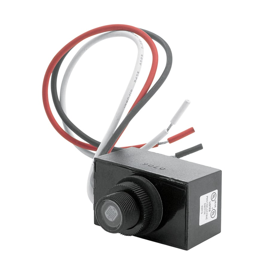 Shop motion light sensor adapters at lowes trinity lighting black wire in light sensor workwithnaturefo